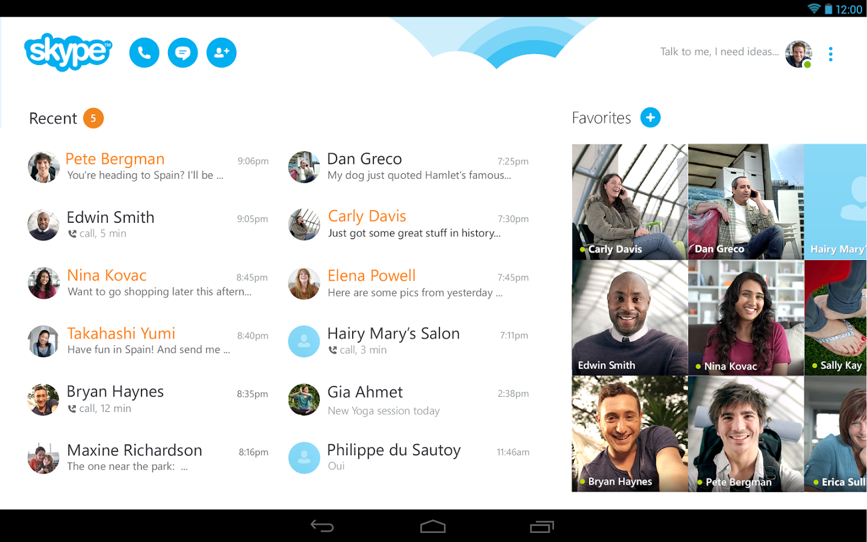Скачать бесплатно приложения скайп на андроид