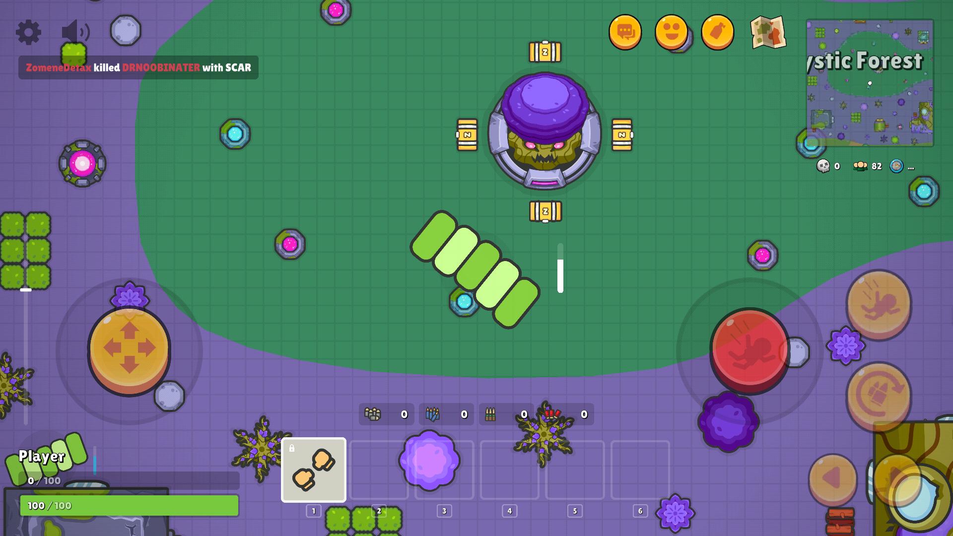 Скачать игру ZombsRoyale io - 2D Battle Royale на Андроид